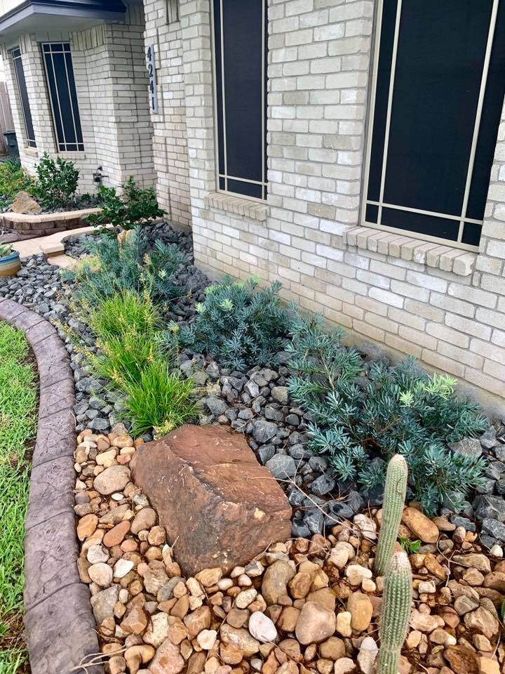 Bulk Rock Soil Grass Flagstone Landscape Design And Installation In Corpus Christi Tx Bay Area Landscape